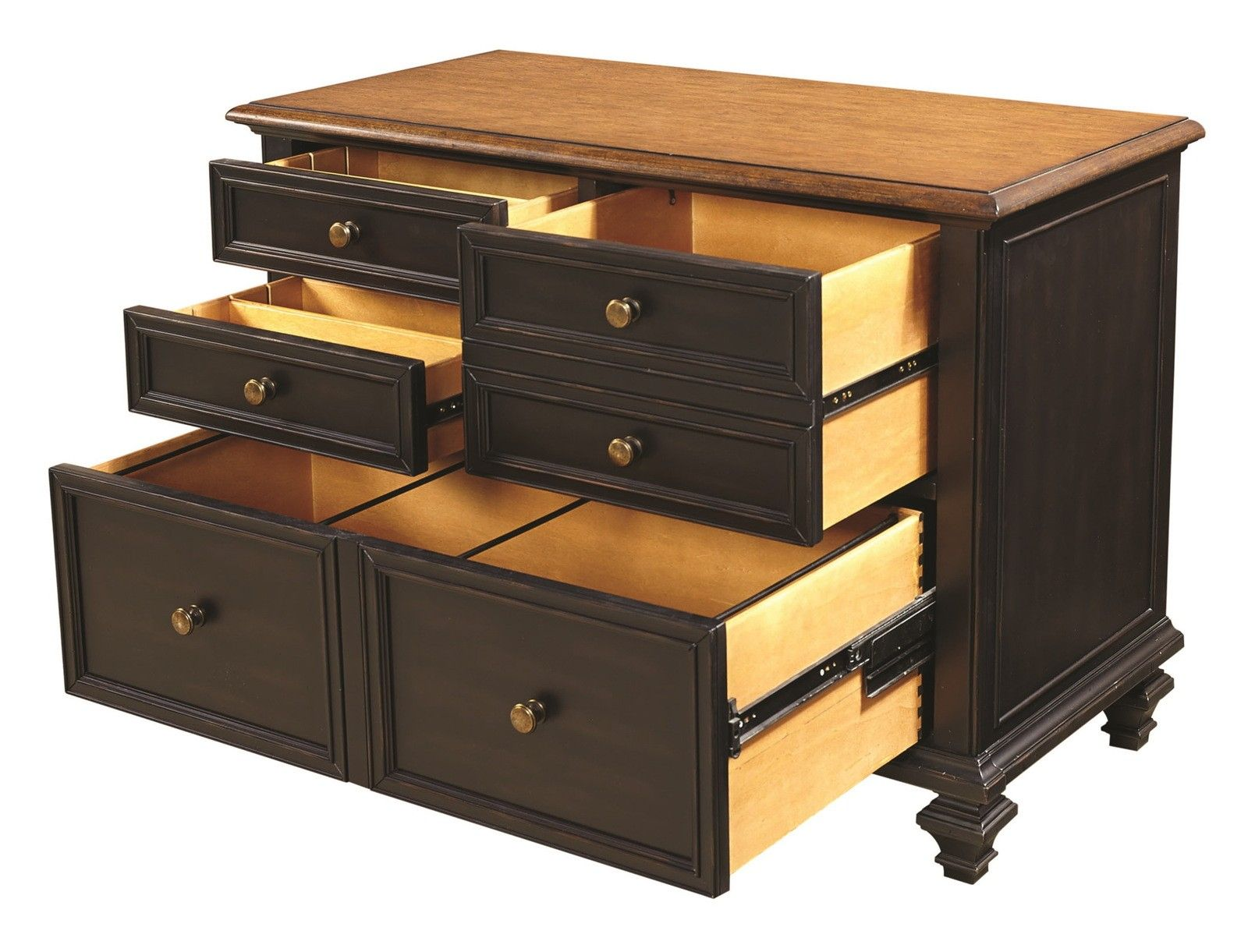 Aspenhome ravenwood drawer combo file in antique black i