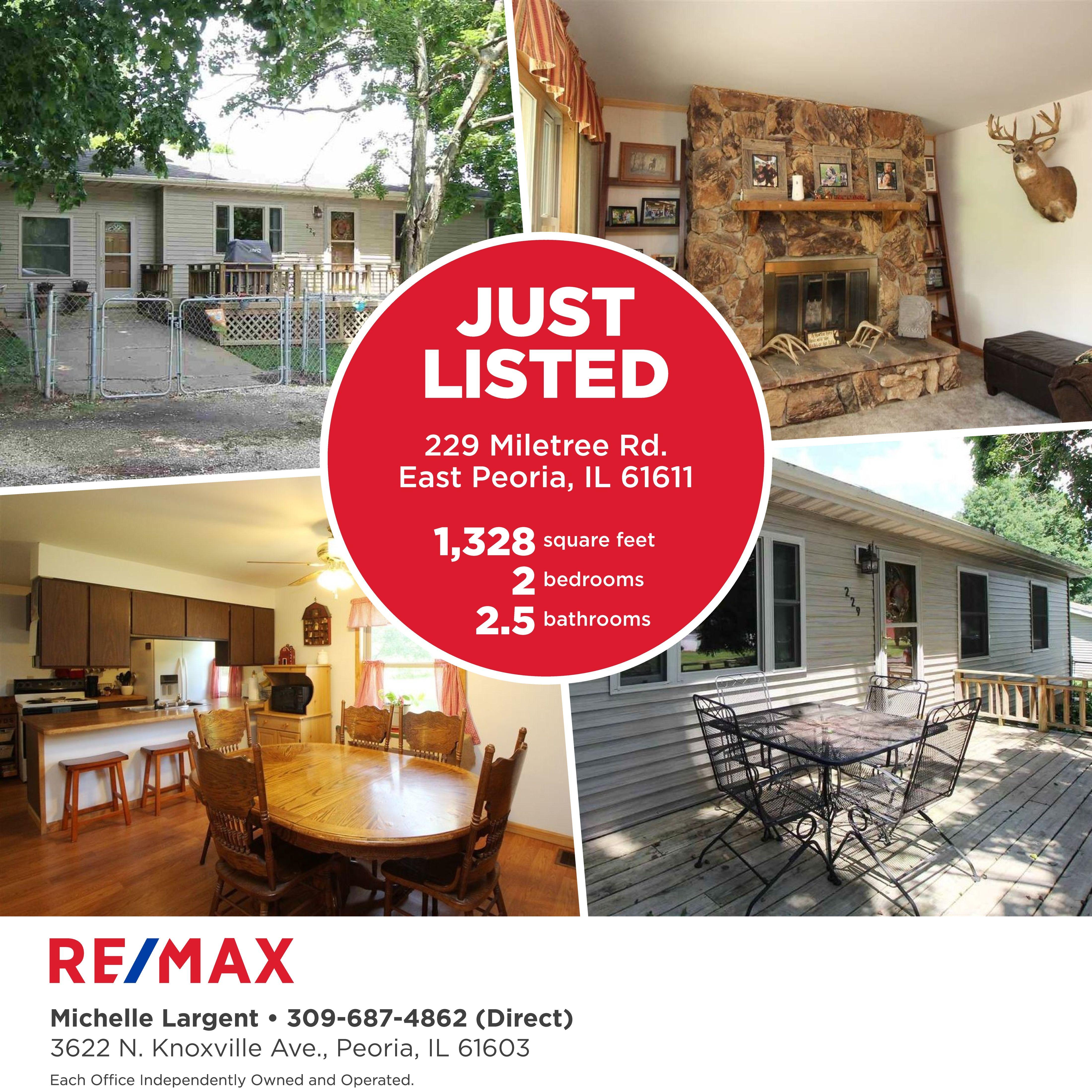 $102,500 229 Miletree Rd., East Peoria, IL