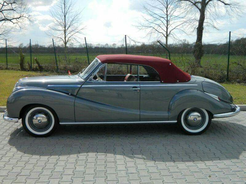1955 BMW 501 V8 Barockengel Cabriolet in 2020   Bmw, Cabriolets, Mini trucks