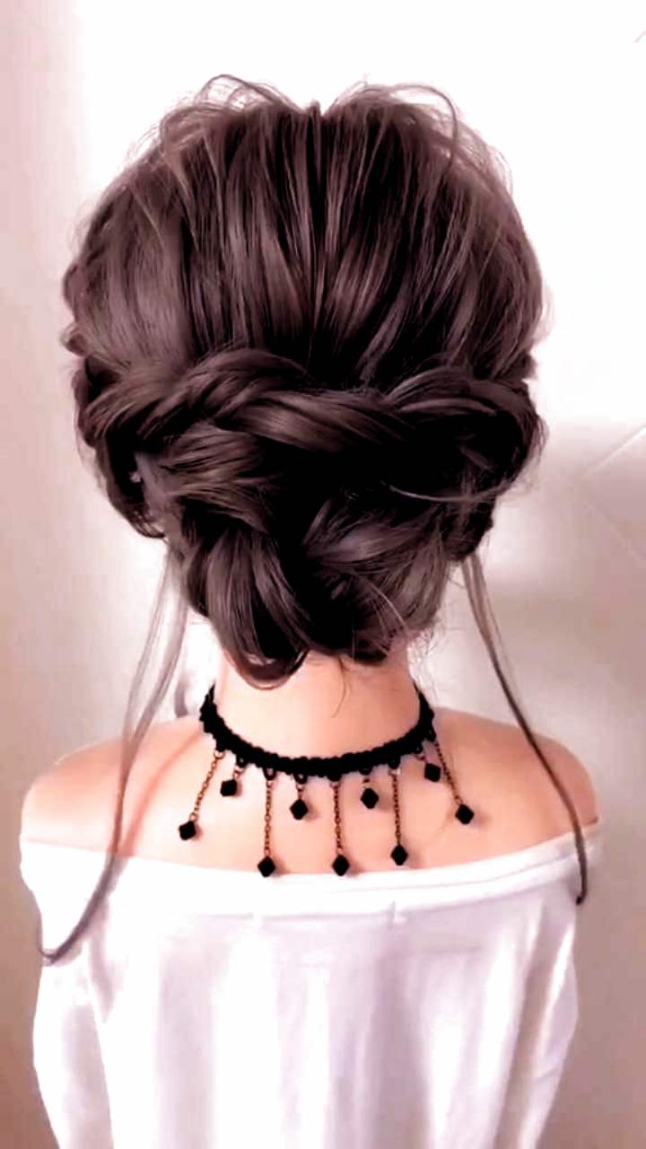 Braided Hairstyle For Long Hair Video Tutorial Simple And Beautiful In 2020 Long Hair Video Hair Styles Diy Hairstyles