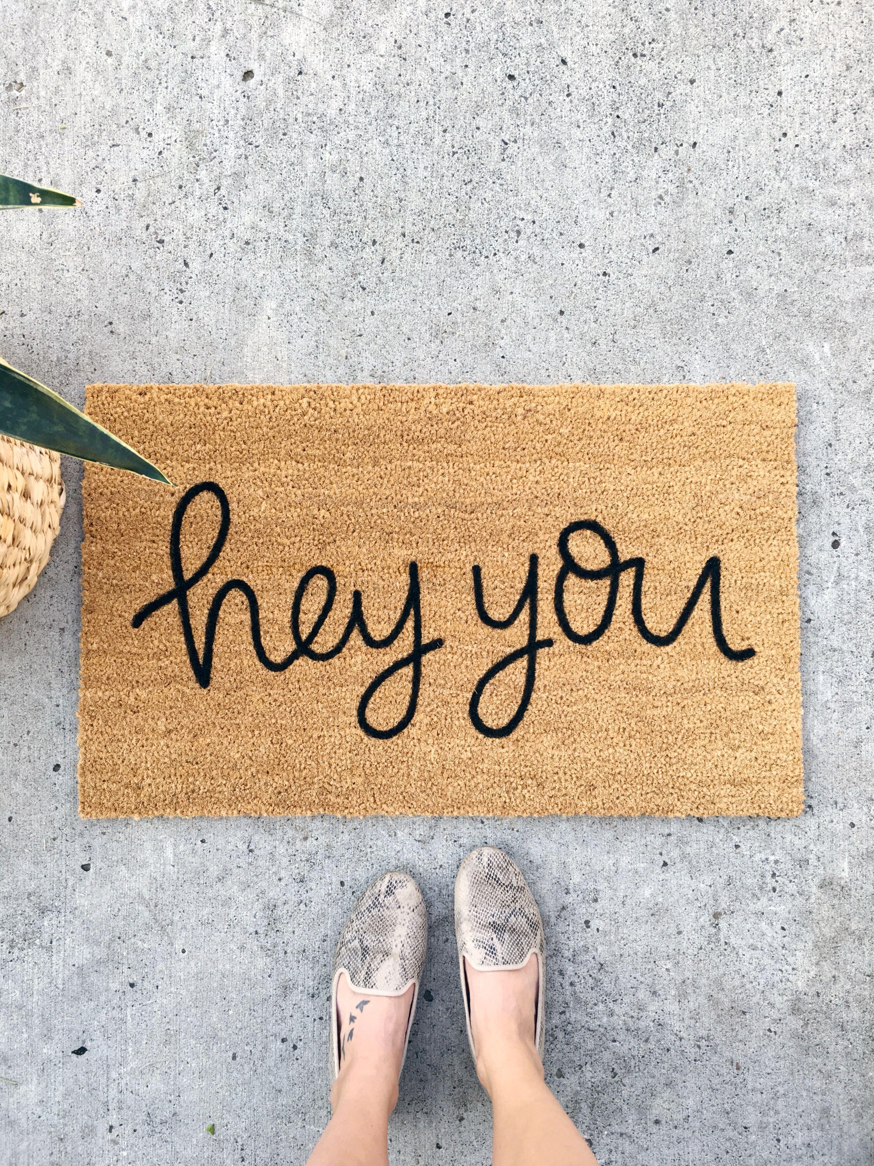 Hey you doormat wedding gift mat