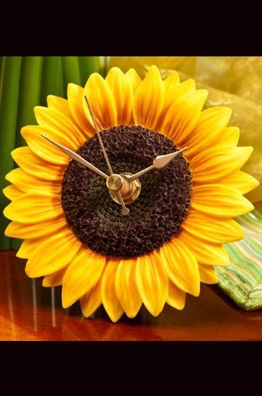 Blue Butterfly Flower Time Clock #sunflowerbedroomideas