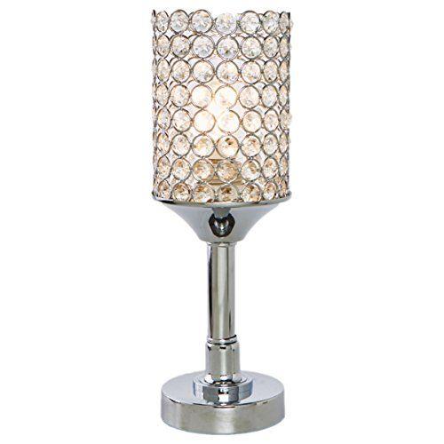 Surpars House Elegant Crystal Table Lamp Bedside Night Lamp for Bedroom,Living Room or Girls Room