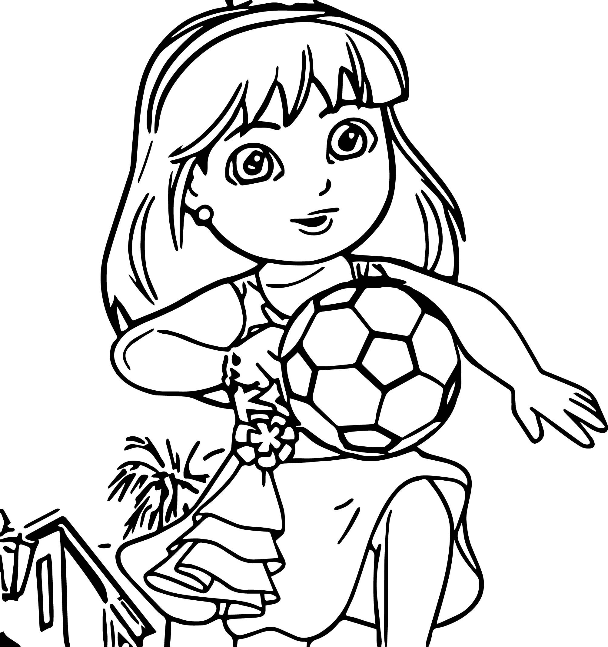 Get A Move On Dora And Friends Soccer Dance Coloring Page