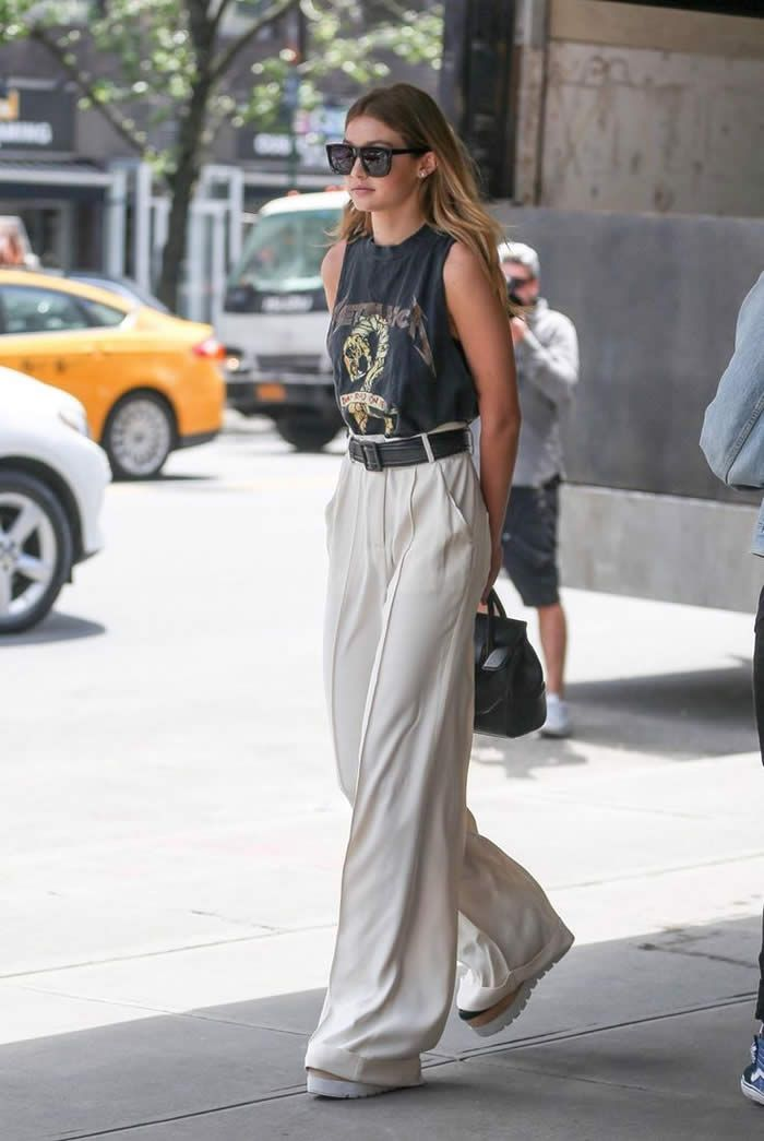 20 Stylish Summer Outfit Ideas with Wide Leg Pants