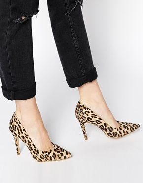 64a141091d1f New Look Scramble Animal Print Heeled Pumps | fashion in 2019 ...
