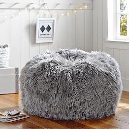 d25f335e67e4 Ivory Furlicious Faux-Fur Beanbags