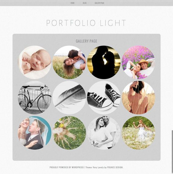 Minimalist Portfolio Wordpress Theme Template Light Portfolio Blog Theme with Circular Images