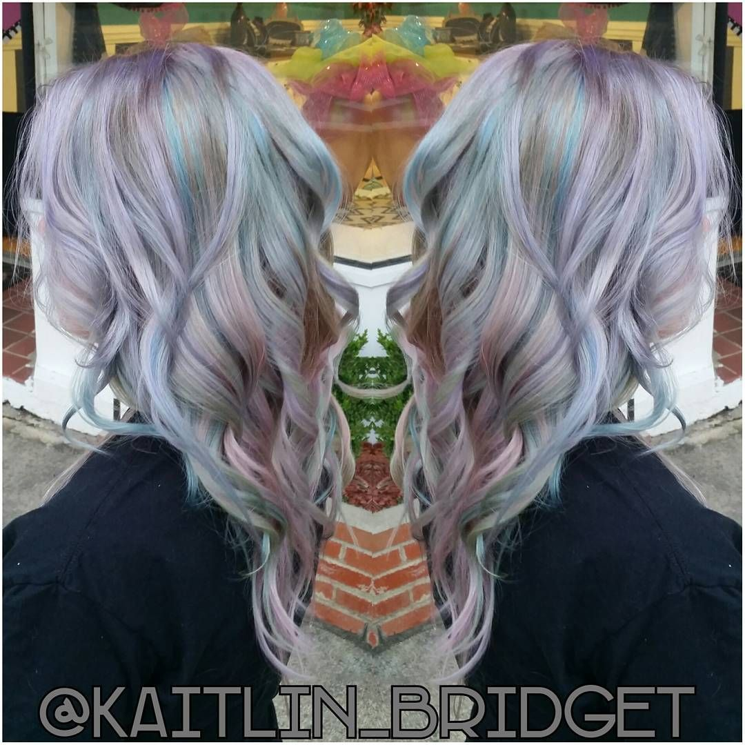 Opal hair color holographic hair color pulp riot hair mermaid
