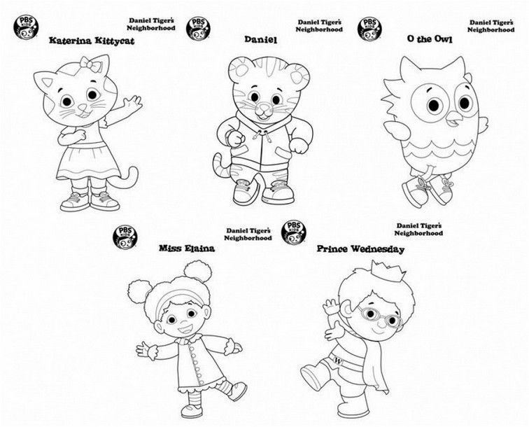 coloring page daniel tiger hd | Birthday coloring pages ...