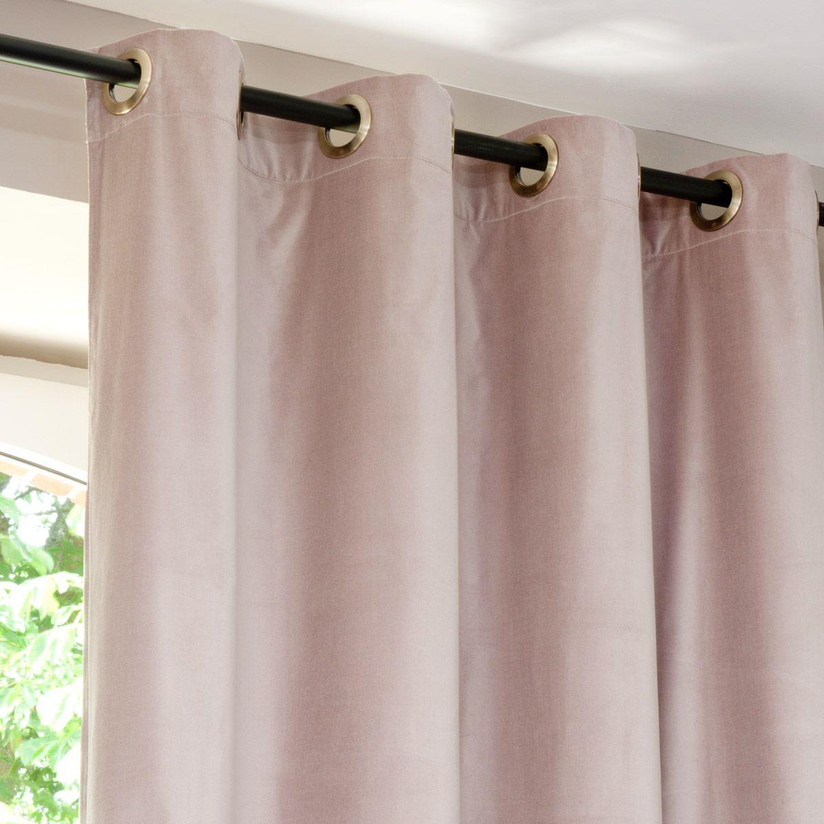 Samt Vorhang Altrosa 140 X 300 Cm Maisons Du Monde Vorhange Shabby Chic Vorhange Rosa Vorhange