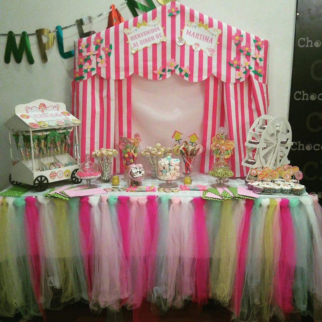 Party girls cumpleaños para niñas temática circo candy dulces sweet ...