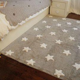 Alfombra lorena canals gris con estrellas blancas im genes - Alfombra habitacion nina ...