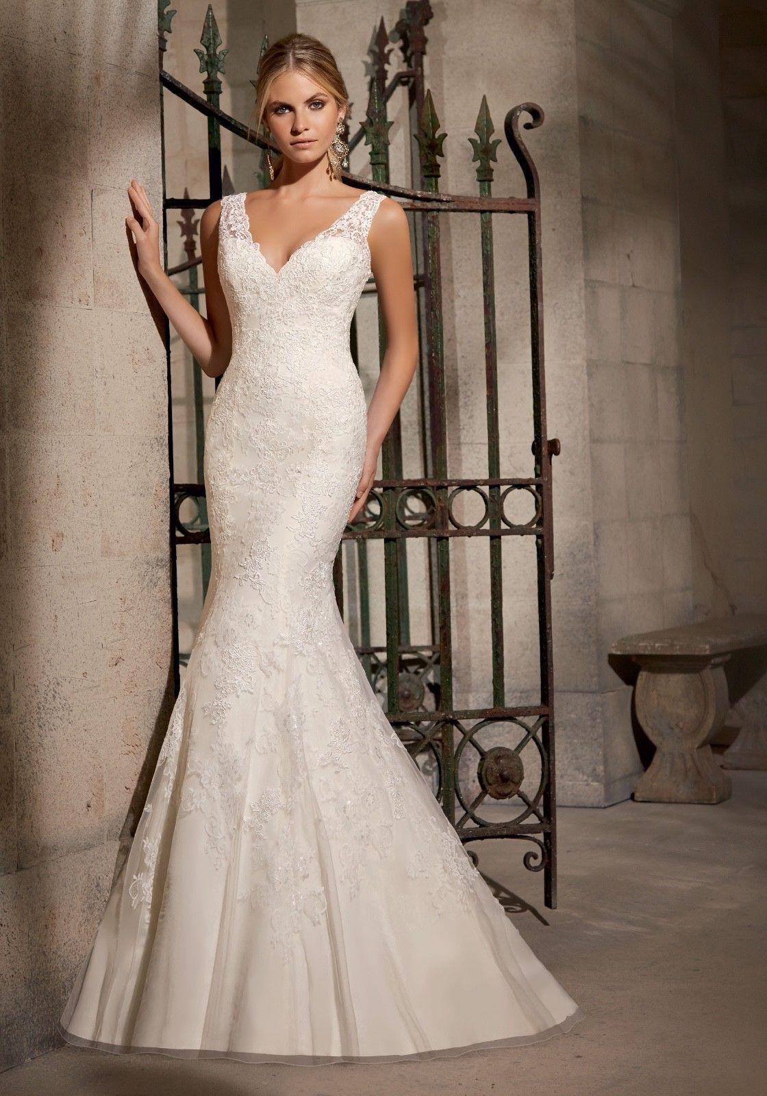 Brand new morilee wedding dressivory size chantilly lace style