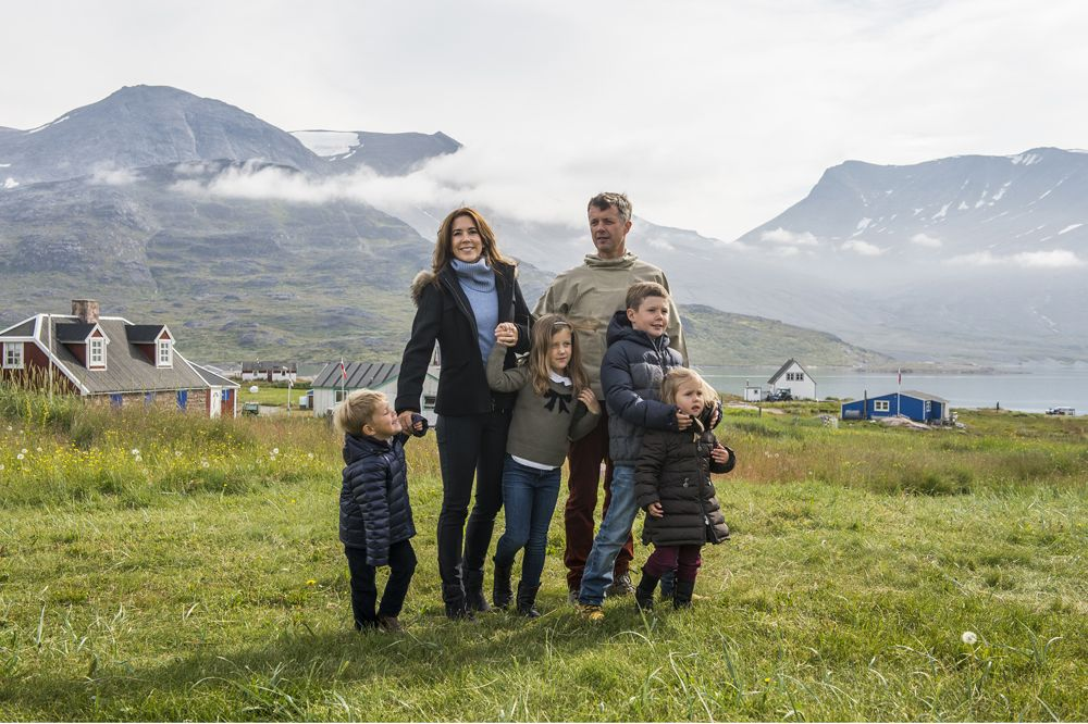 The Danish Crown Prince  Family on their first day of the summer tour in Greenland