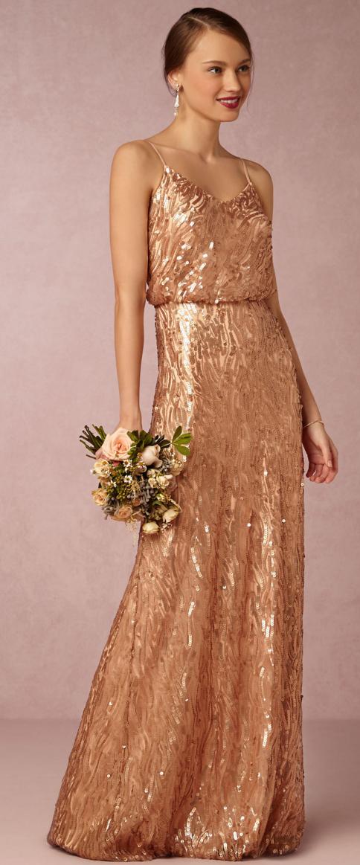 Gold Copper Dress