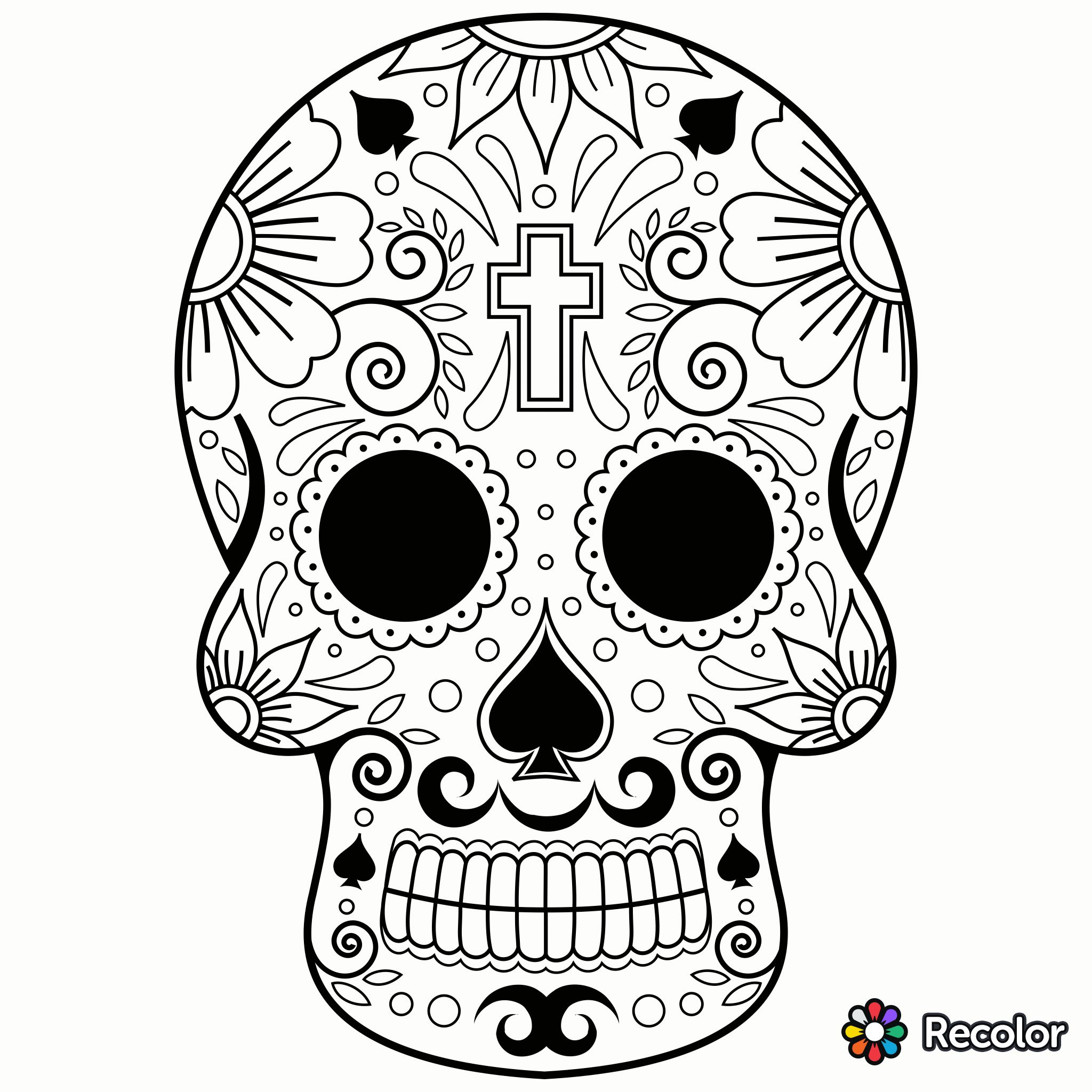 Pin by hel on Coloring pages for teens  Skull coloring pages