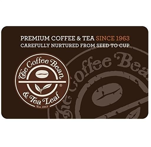 10 The Coffee Bean Tea Leaf Gift Card Coffee Bean Gifts Tea Leaves Coffee Beans