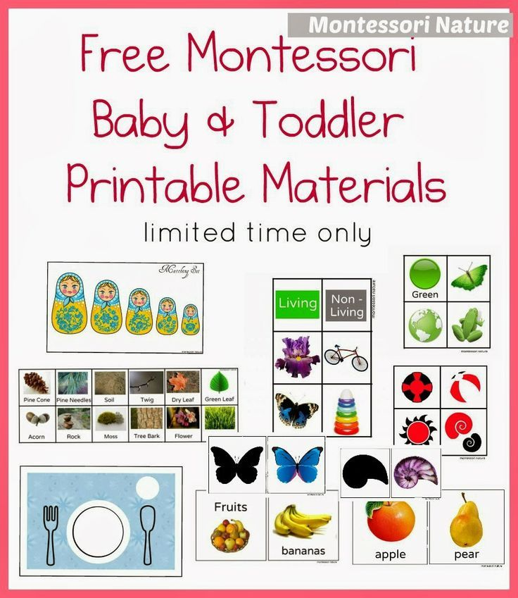 Free Montessori Baby & Toddler Printable Materials | Montessori baby ...