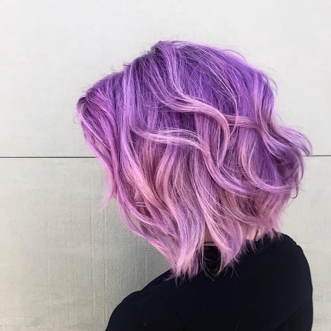 brilliant short purple hair