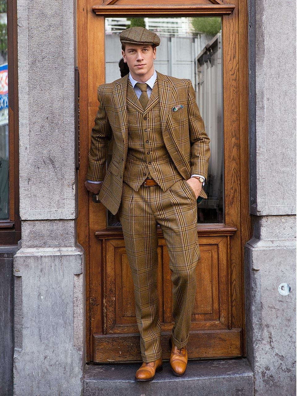 28590528429957 3-Knopf Tweed Anzug