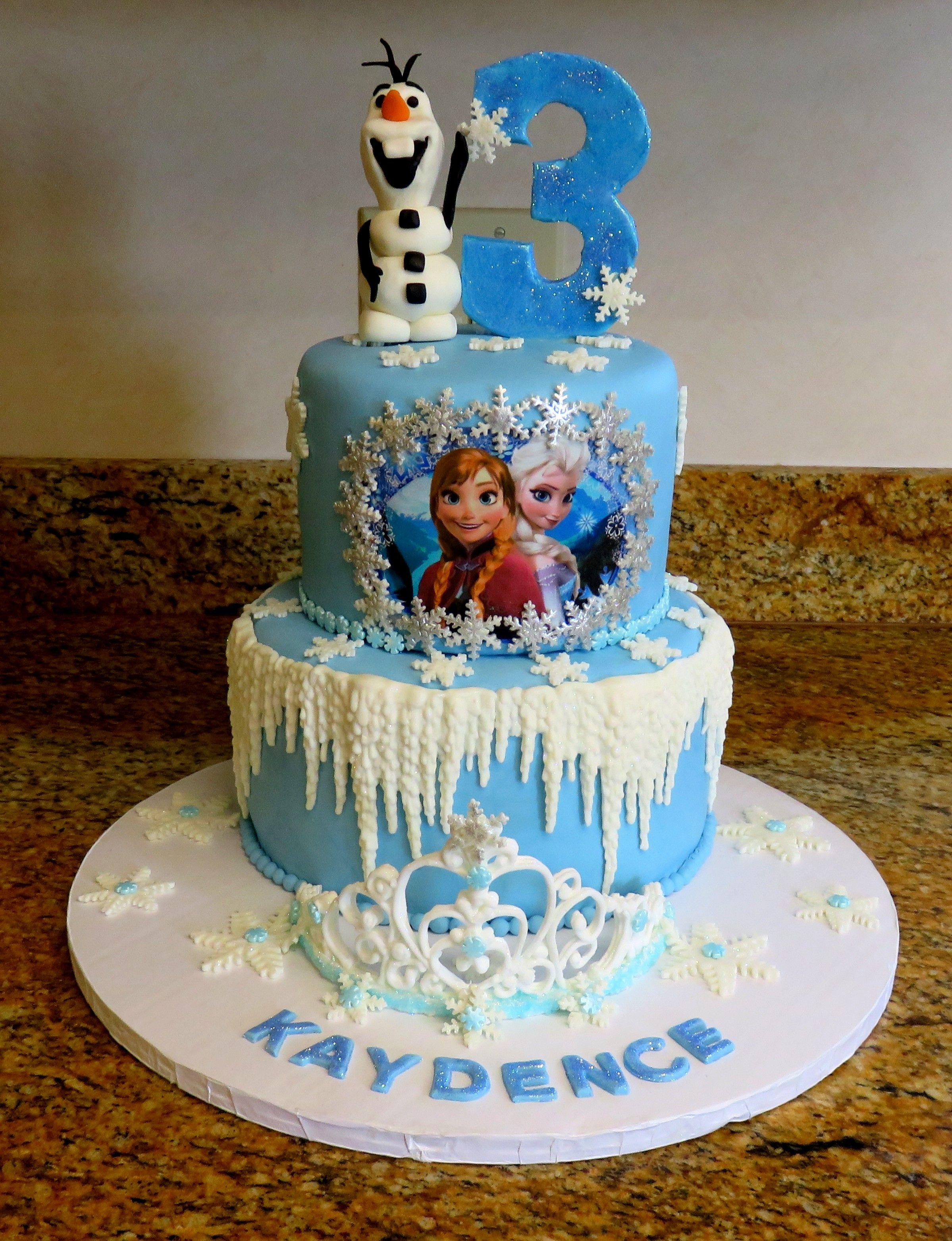Frozen Birthday Cake January 2016 Birthday Cake Pinterest