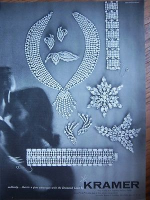 1957 Kramer jewelry ad