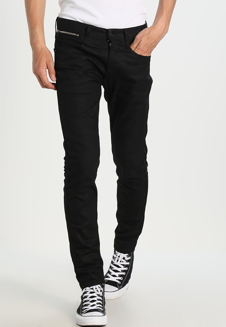 Mens Anbass Coin Zip Slim Jeans Replay 6almr