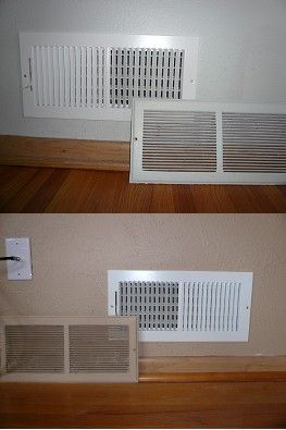 The previous owners painted over their wall vents  This can