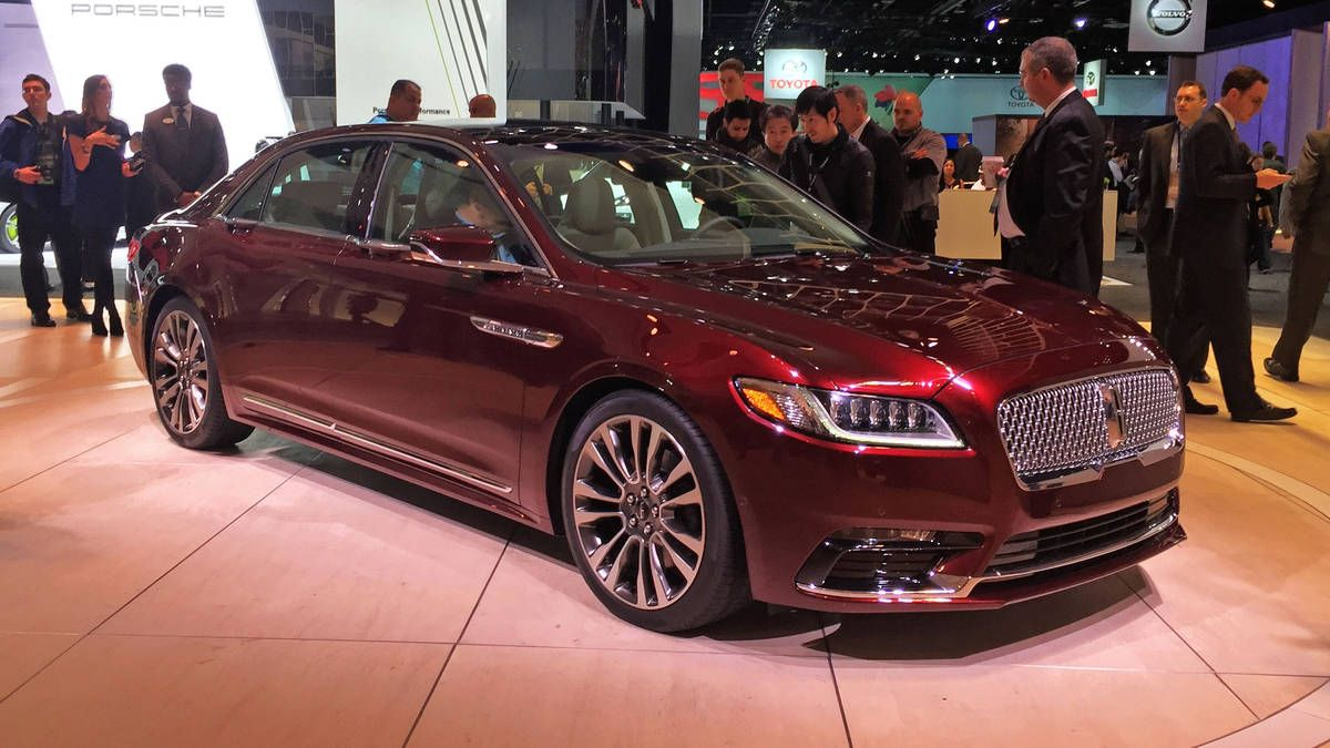 The 2017 Lincoln Continental Is Here Pulled Covers Off It Its New Flagship Well Three Of Flagships At 2016 Detroit Auto Show
