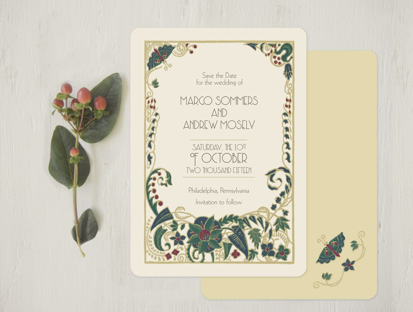 Art Deco Save the Dates Save the Date Vintage Style by GoGoSnap ...