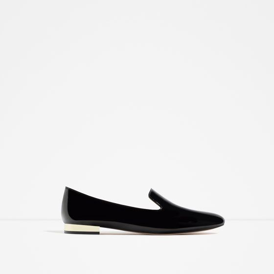 4d1f4d1e5 ZARA - COLLECTION AW16 - PATENT FINISH FLATS | woman's fashion ...