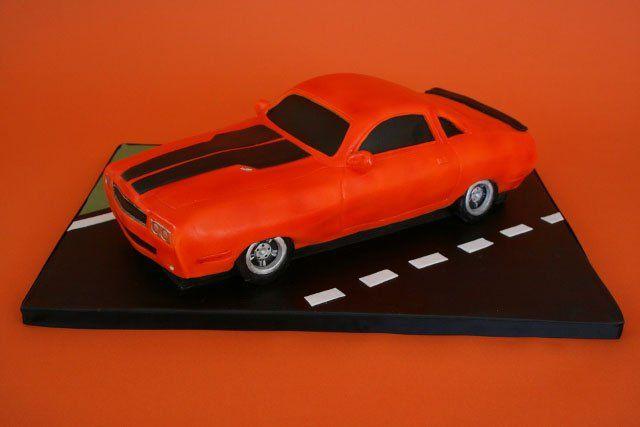 Car Birthday Cakes Nj Custom Dodge Challenger Car Cake Pv