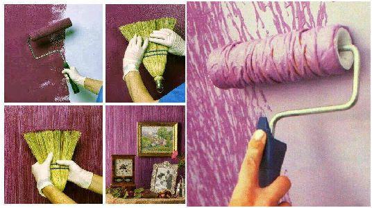 10 ideas geniales para pintar y hacer texturas en las - Tecnicas de pintura paredes ...