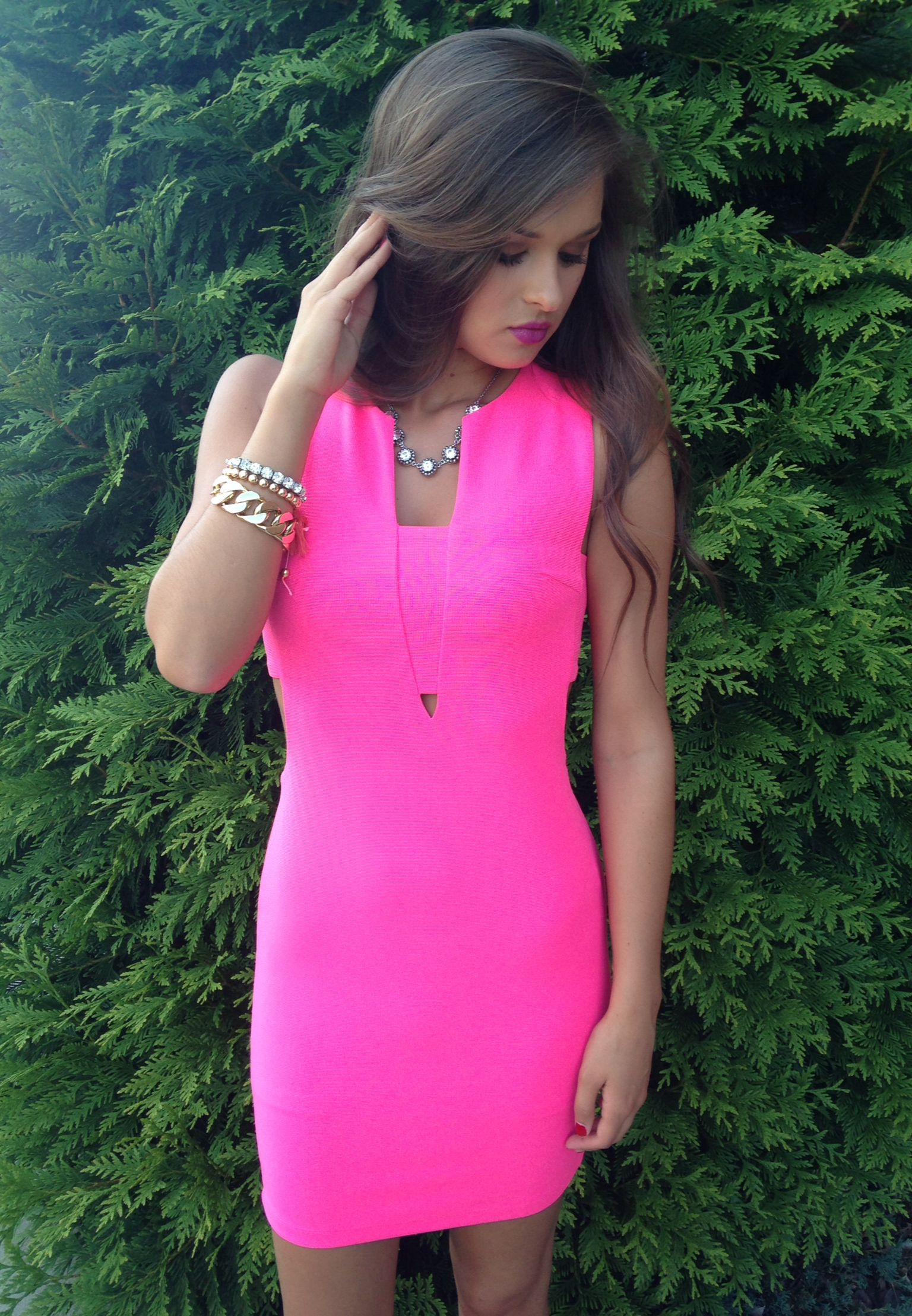 hot pink dress #swoonboutique | SWOON Swag. | Pinterest