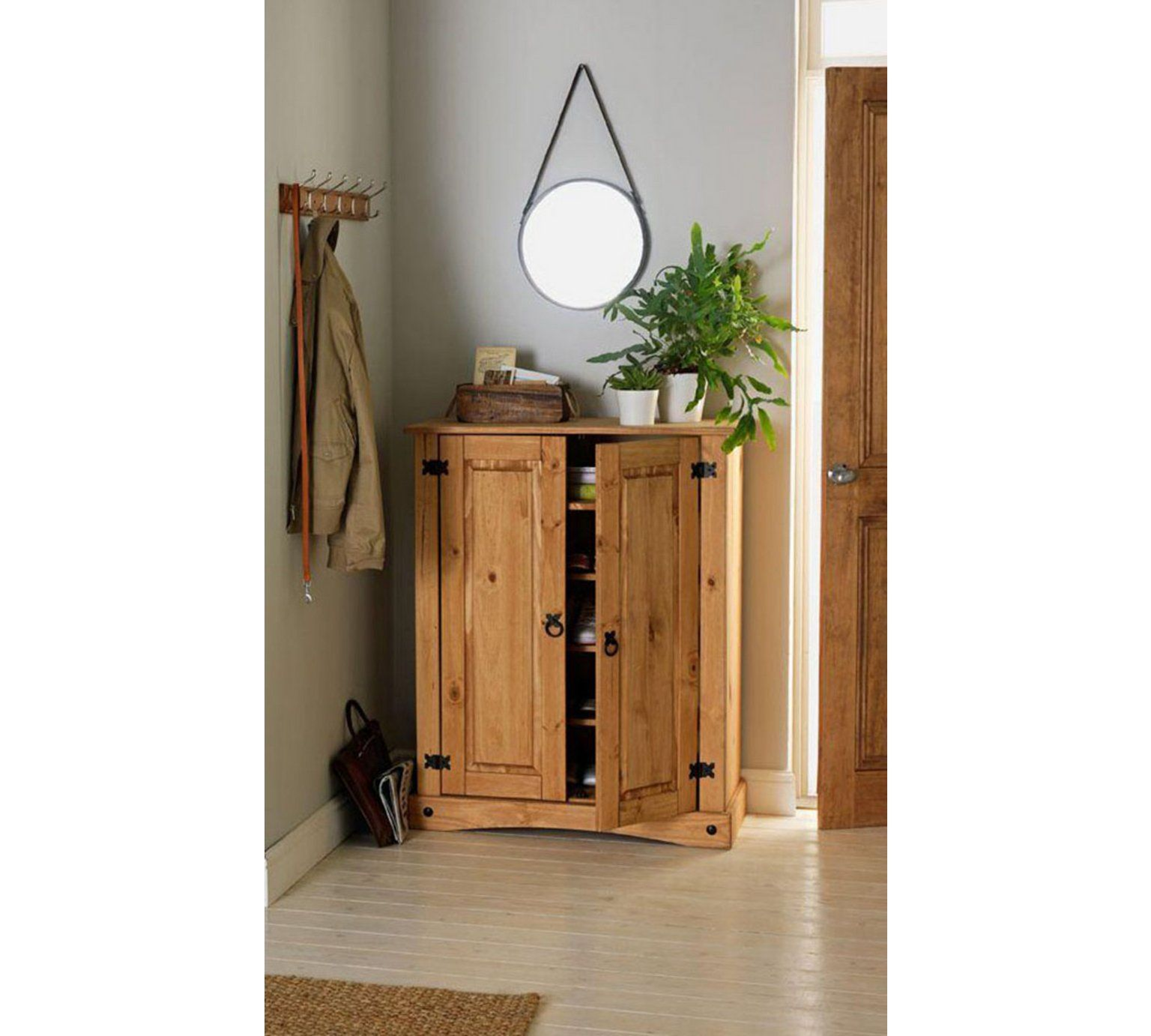 shoe storage hallway furniture. Buy Collection Puerto Rico Shoe Storage Cabinet - Antique Pine At Argos.co.uk Hallway Furniture G