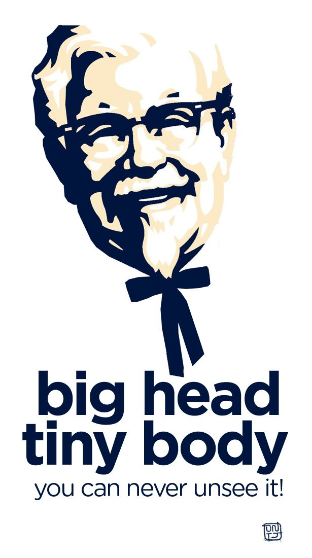 KFC logo - Big Head | Once it's seen, it can not be unseen! Hahaha!