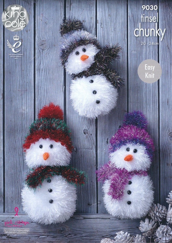 King Cole Tinsel Chunky Snowman Pattern 9030