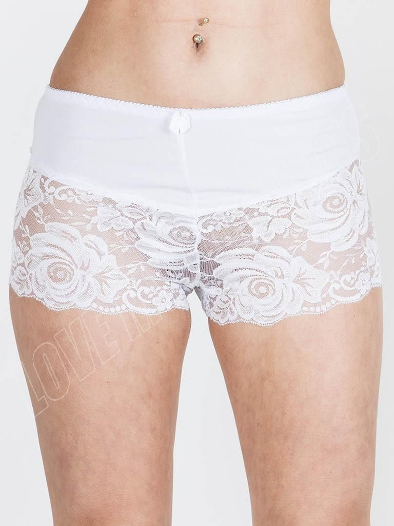 Details about New Womens Ladies Sexy Rose French Lace Boxer Shorts ...