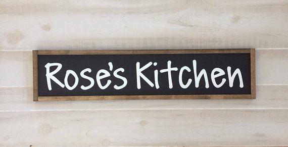 Custom Name Kitchen Wooden Sign Kitchen Decor Kitchen Sign