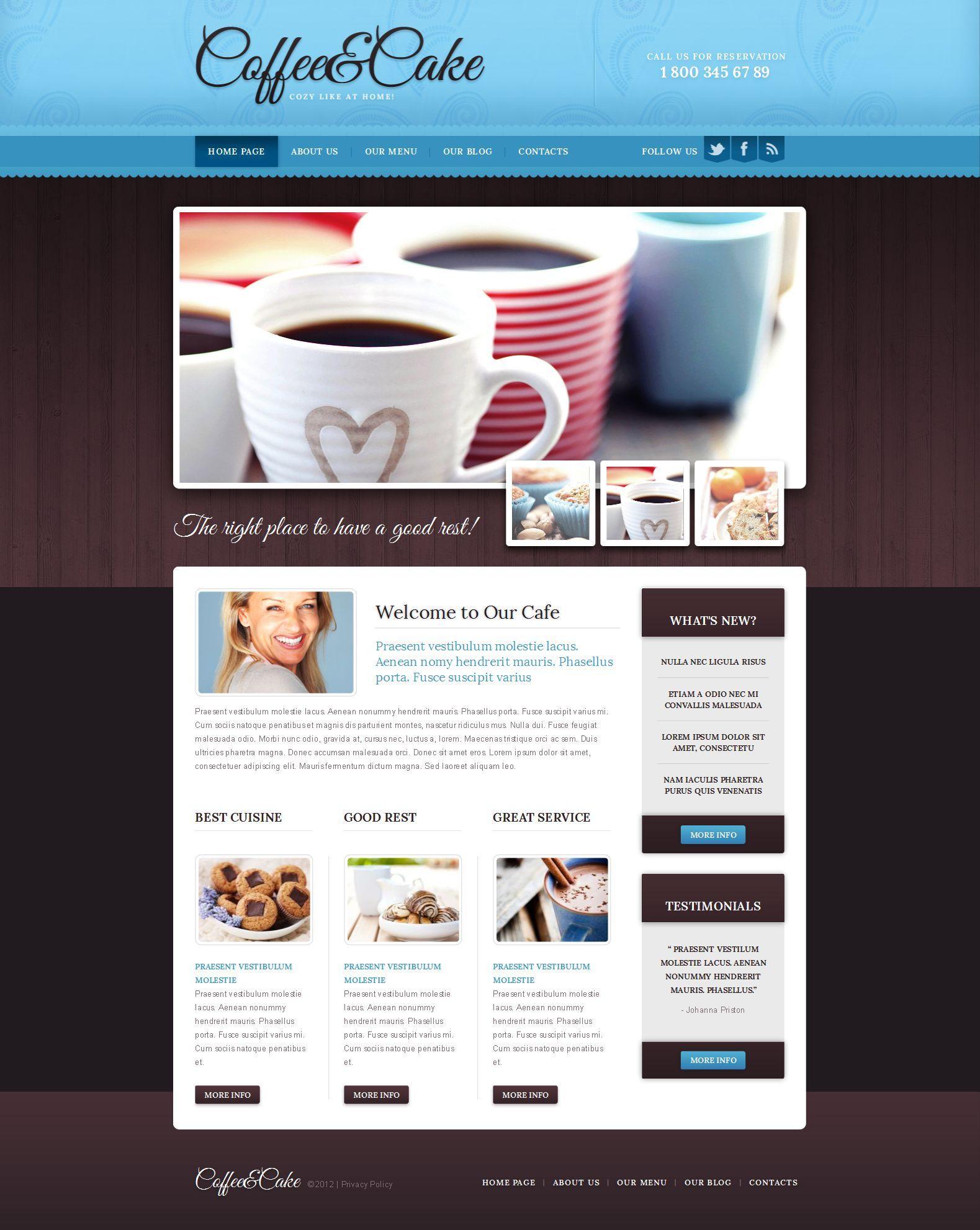 Cafe Restaurant Website Template HttpWwwTemplatemonsterCom
