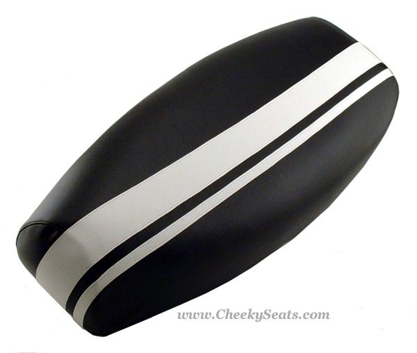 Genuine Stella scooter seat cover Dual Racing Stripes