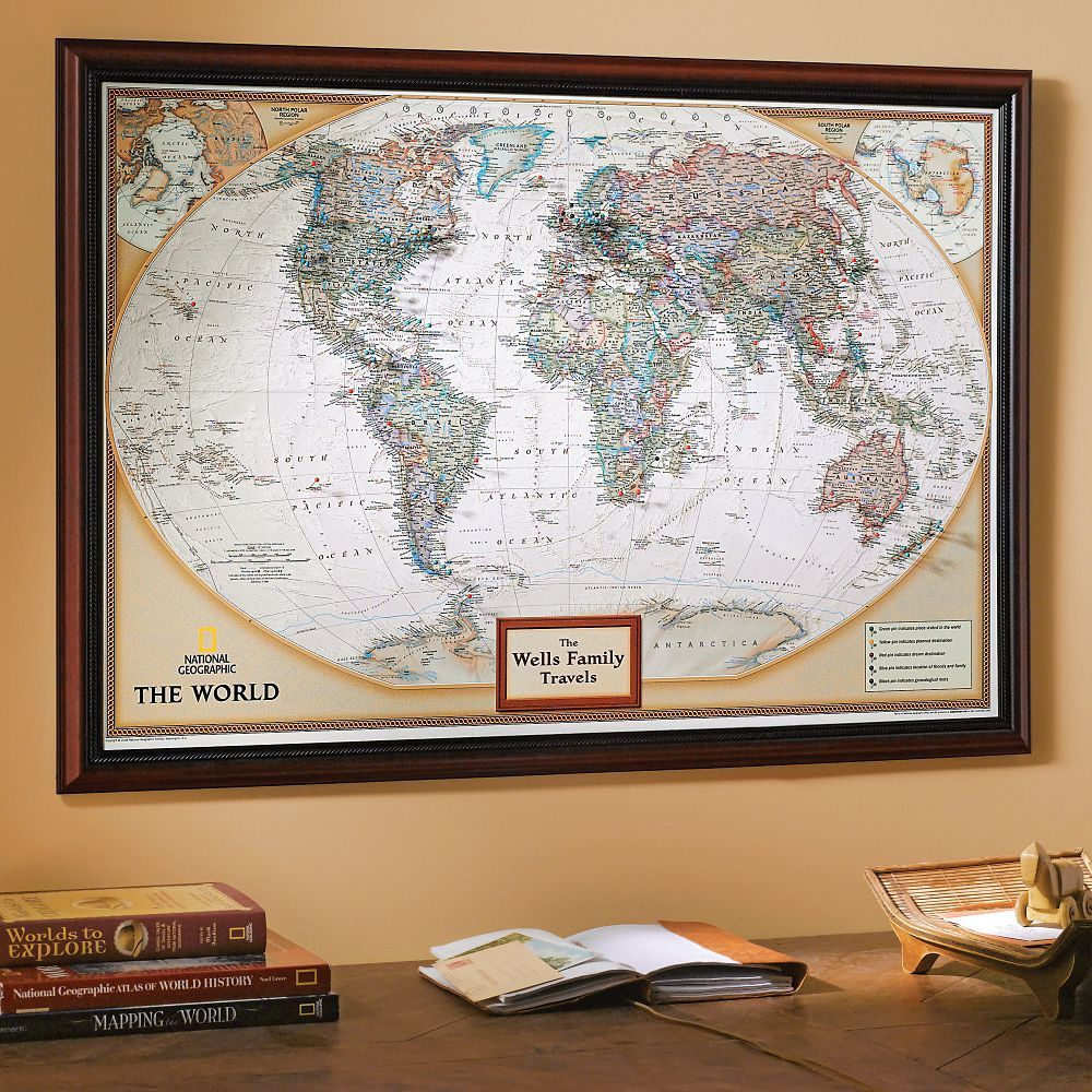 National Geographic My World Personalized Map Earth Toned Earth Map Personalized Map Map