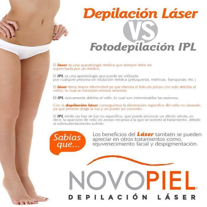 Y diferencia laser fotodepilacion medico entre