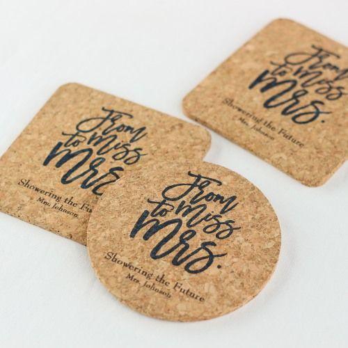 Wedding Cork Coaster: Personalized Cork Coasters
