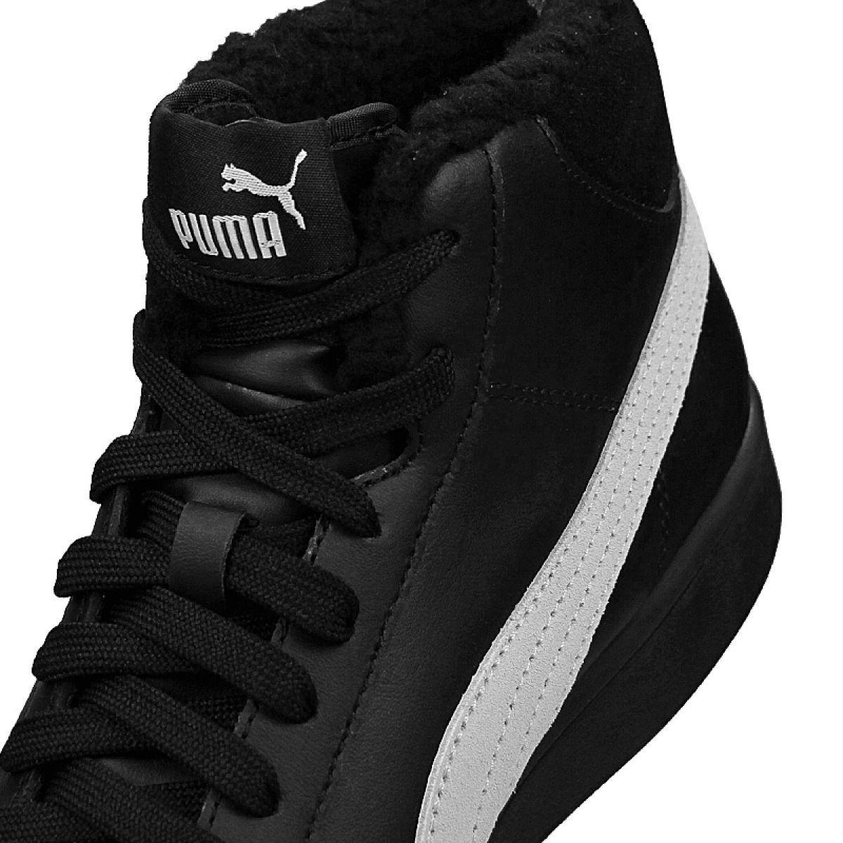 Children S Sports Shoes For Children Puma Puma Smash V2 Mid L Fur Jr 366895 05 Shoes Black Junior Shoes Black Shoes Shoes
