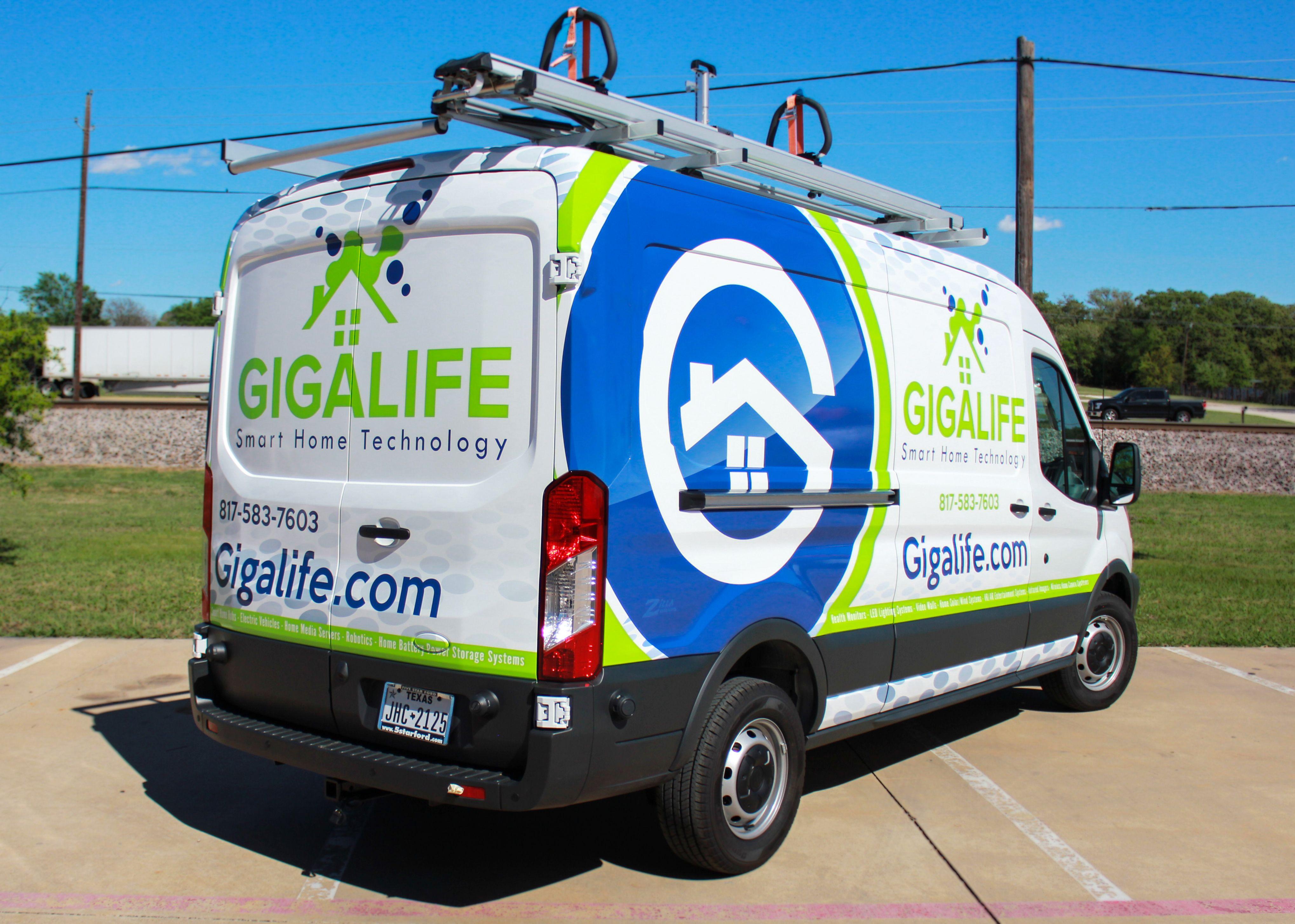 Smart Home Van Wrap