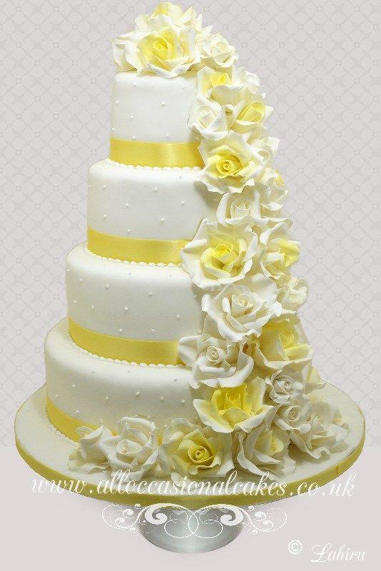 Wedding Cake Design Yellow Google Search