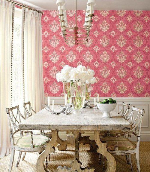 salle manger romantique style shabby chic