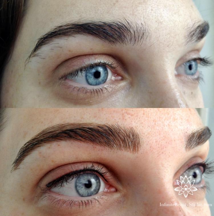 Semipermanent Makeup Results Microblading, Permanent